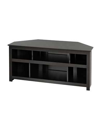 Prepac Plasma and LCD TV Corner Console-BLACK-One Size