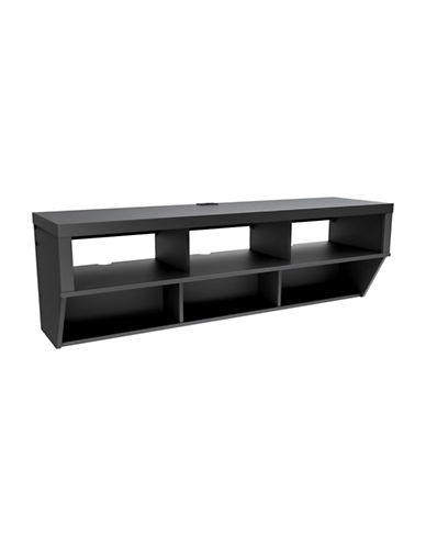 Prepac Wall-Mounted Audio-Video Console-BLACK-One Size