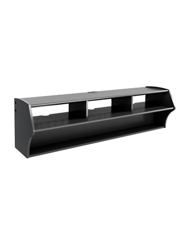 Prepac Altus Floating TV Stand-BLACK-One Size