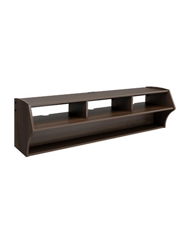 Prepac Altus Floating TV Stand-ESPRESSO-One Size