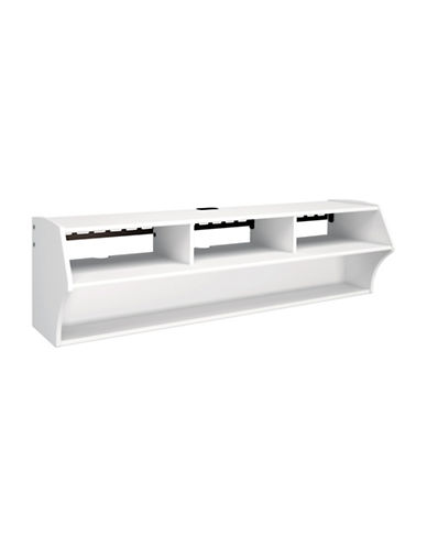 Prepac Altus Floating TV Stand-WHITE-One Size