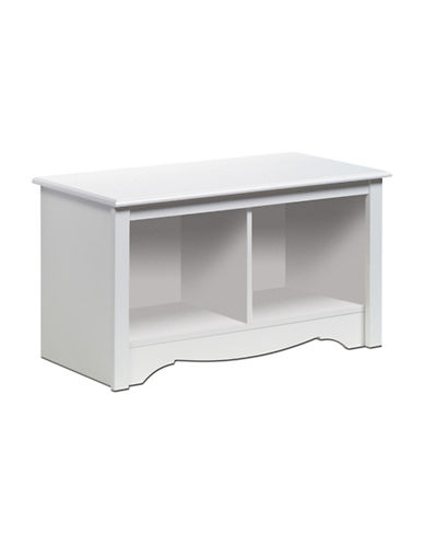 Prepac Rectangular Twin Cubby Bench-WHITE-One Size