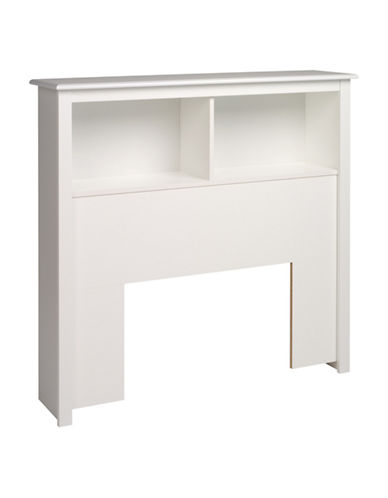Prepac Twin Bookcase Headboard-WHITE-One Size