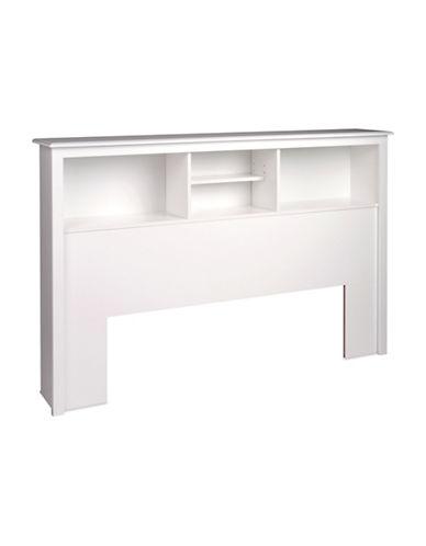 Prepac Full/Queen Bookcase Headboard-WHITE-One Size