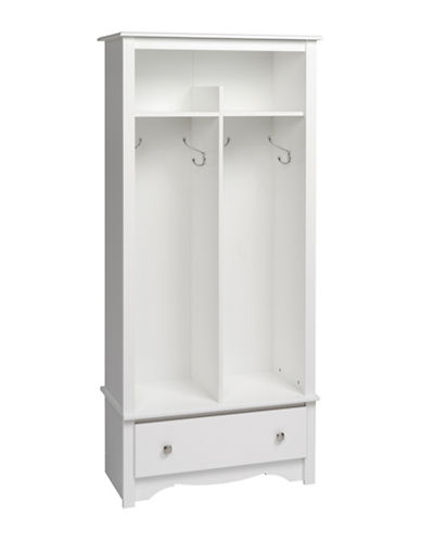 Prepac Rectangular Entryway Organizer-WHITE-One Size