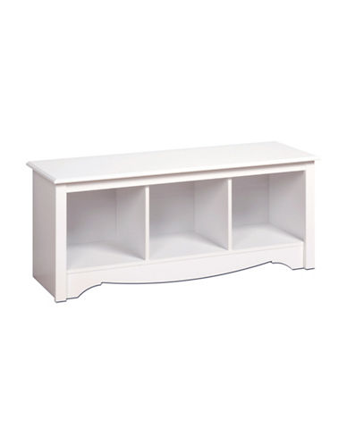Prepac Rectangular Cubby Bench-WHITE-One Size