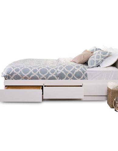 Prepac Queen Mates Platform Storage Bed-WHITE-One Size
