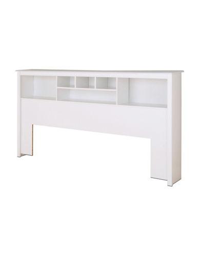 Prepac King Bookcase Headboard-WHITE-One Size