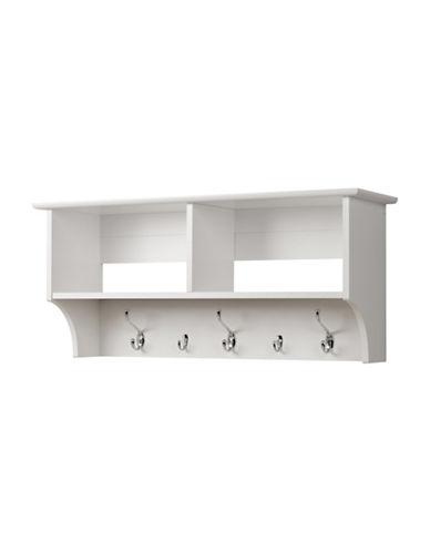 Prepac Hanging Entryway Shelf-WHITE-One Size