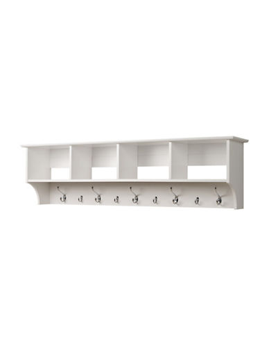 Prepac Wide Hanging Entryway Shelf-WHITE-One Size