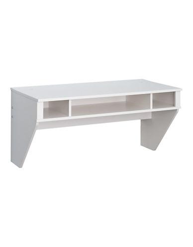 Prepac Designer Floating Desk-WHITE-One Size