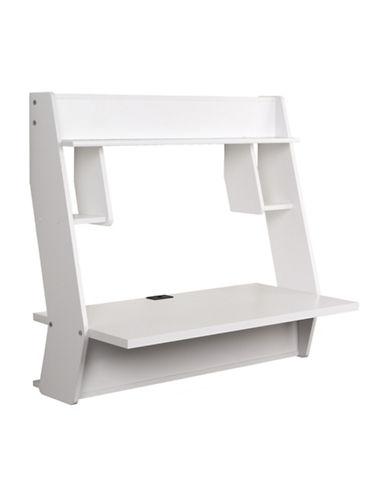 Prepac Studio Floating Desk-WHITE-One Size