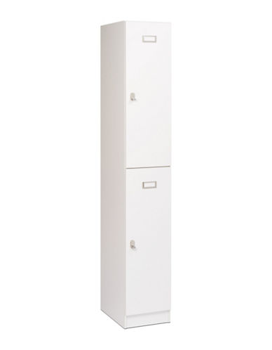 Prepac Double Tier Locker-WHITE-One Size