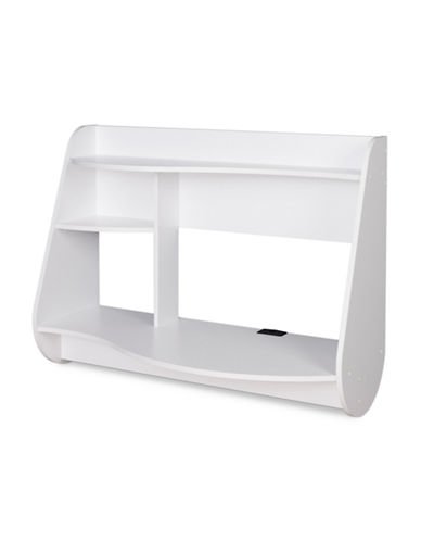 Prepac Kurv Floating Desk-WHITE-One Size