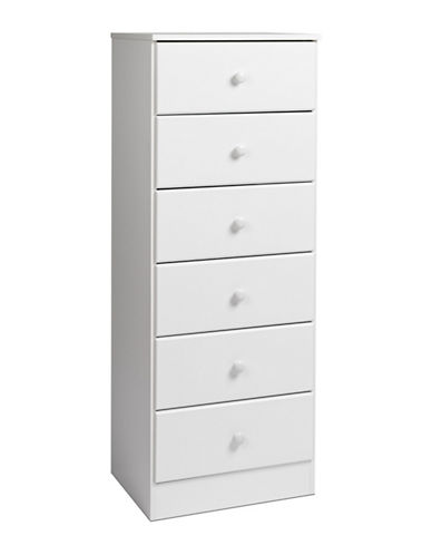 Prepac Astrid Tall Six-Drawer Chest-WHITE-One Size