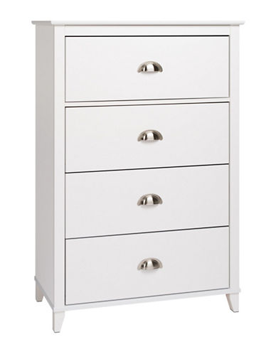 Prepac Yaletown Four-Drawer Chest-WHITE-One Size