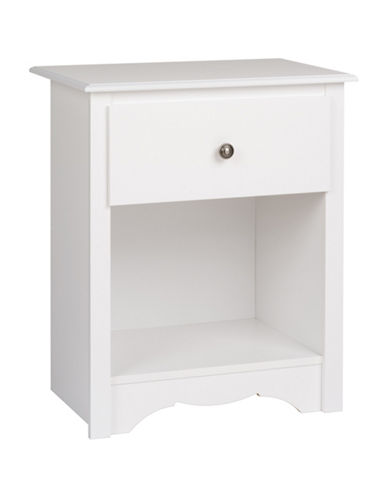 Prepac Monterey 1-Drawer Tall Nightstand-WHITE-One Size