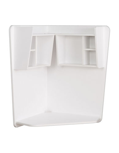 Prepac Floating Corner Desk-WHITE-One Size