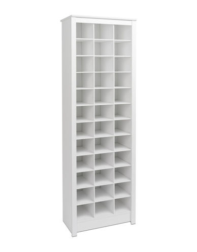 Prepac Tall Shoe Storage Cabinet-WHITE-One Size