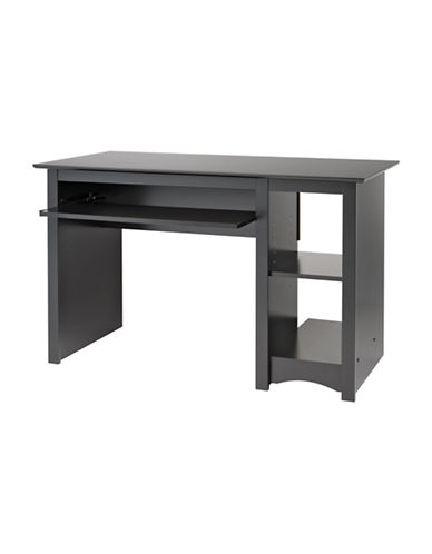 Prepac Matte Computer Desk-BLACK-One Size