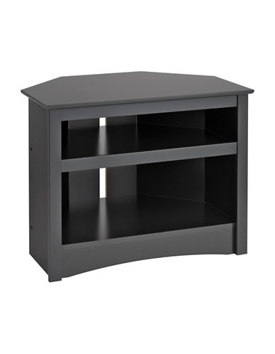 Prepac Corner TV Stand-BLACK-One Size