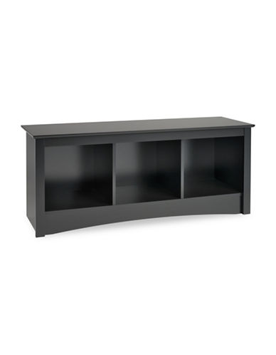 Prepac Rectangular Cubby Bench-BLACK-One Size
