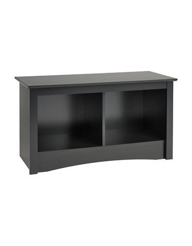 Prepac Rectangular Twin Cubby Bench-BLACK-One Size