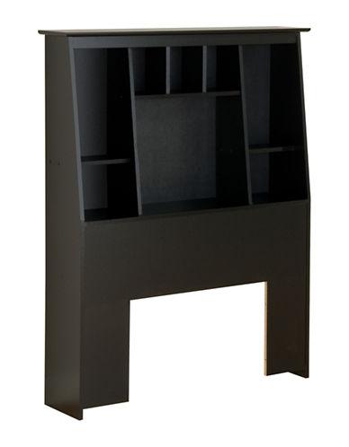 Prepac Twin Tall Slant-Back Bookcase Headboard-BLACK-One Size