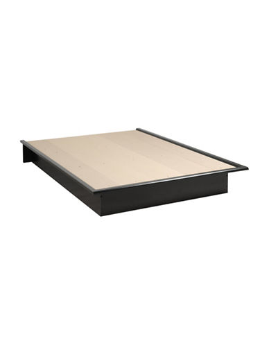 Prepac Queen Platform Bed-BLACK-One Size
