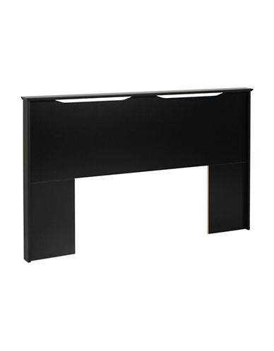 Prepac Coal Harbor Full/Queen Flat Panel Headboard-BLACK-One Size