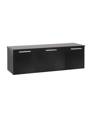 Prepac Coal Harbor Wall Mounted Buffet-BLACK-One Size