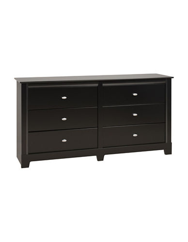 Prepac Kallisto Six-Drawer Dresser-BLACK-One Size