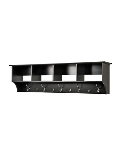Prepac Wide Hanging Entryway Shelf-BLACK-One Size