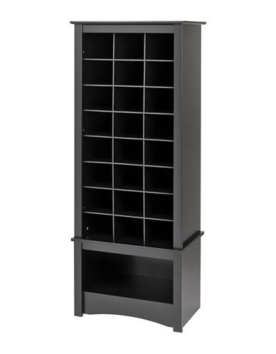 Prepac Tall Shoe Cubby Cabinet-BLACK-One Size