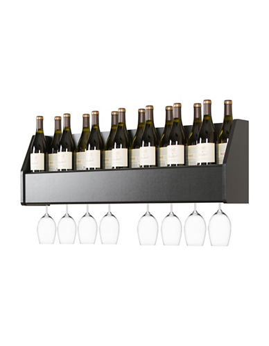 Prepac Floating Wine Rack-BLACK-One Size