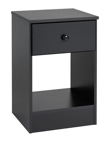 Prepac Astrid Tall 1-Drawer Nightstand-BLACK-One Size