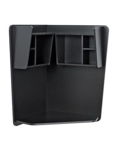 Prepac Floating Corner Desk-BLACK-One Size