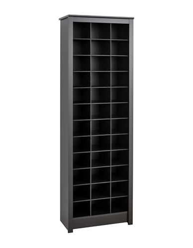 Prepac Space-Saving Shoe Storage Cabinet-BLACK-One Size