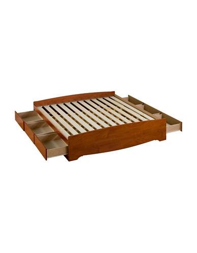 Prepac King Mates Platform Storage Bed-CHERRY-One Size