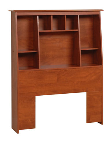 Prepac Twin Tall Slant-Back Bookcase Headboard-CHERRY-One Size