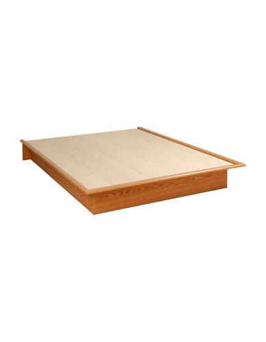 Prepac Queen Platform Bed-OAK-One Size
