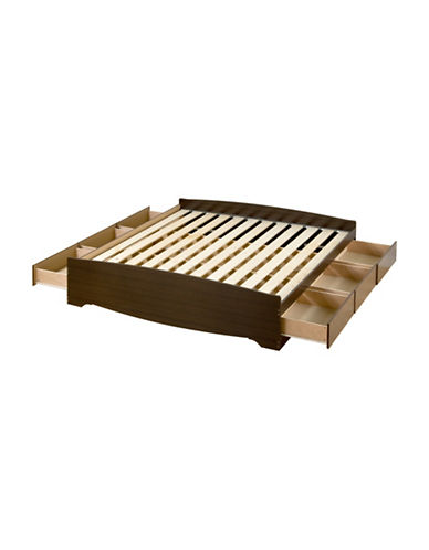 Prepac King Mates Platform Storage Bed-ESPRESSO-One Size