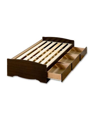Prepac Twin XL Mates Platform Storage Bed-ESPRESSO-One Size