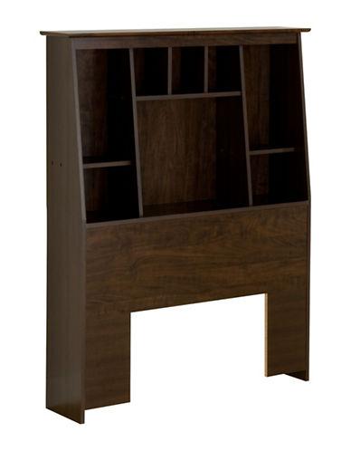 Prepac Twin Tall Slant-Back Bookcase Headboard-ESPRESSO-One Size