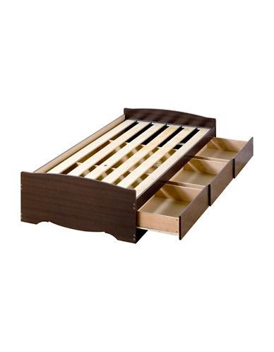 Prepac Platform Storage Bed with Three Drawers-ESPRESSO-One Size