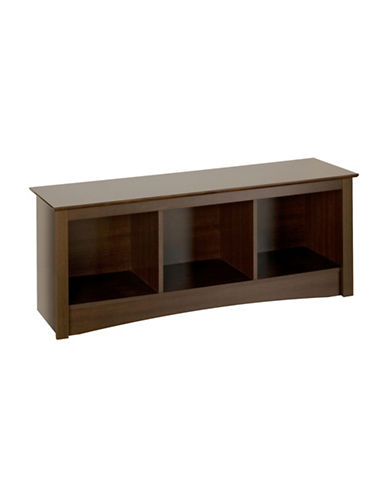 Prepac Rectangular Cubby Bench-ESPRESSO-One Size