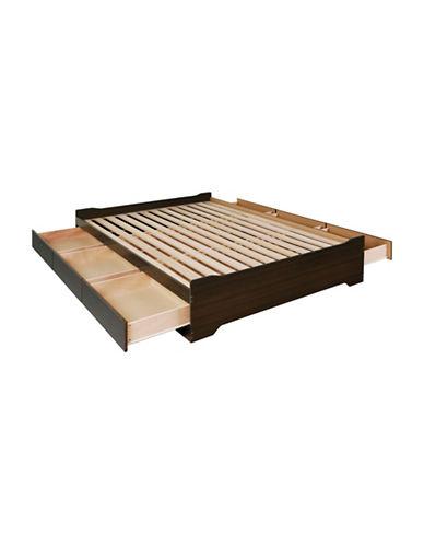 Prepac Coal Harbor Queen Mates Platform Storage Bed-ESPRESSO-One Size