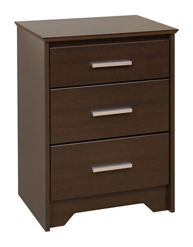 Prepac Coal Harbor 3-Drawer Tall Nightstand-ESPRESSO-One Size