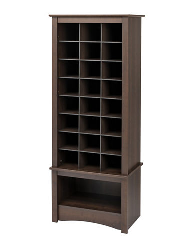 Prepac Tall Shoe Cubby Cabinet-ESPRESSO-One Size