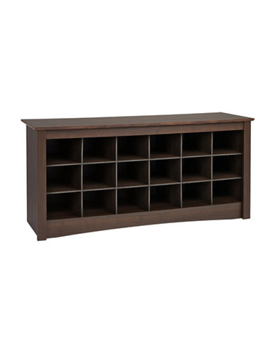 Prepac Rectangular Shoe Storage Cubby Bench-ESPRESSO-One Size